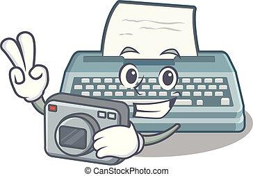 φωτογράφος , σχήμα , γελοιογραφία , γραφομηχανή
