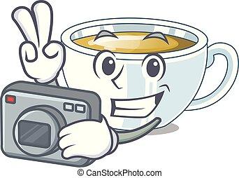 φωτογράφος , σχήμα , γελοιογραφία , πιπερόριζα , τσάι