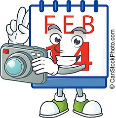 φωτογράφος , χαρακτήρας , δροσερός , ημερολόγιο , 14th ,...