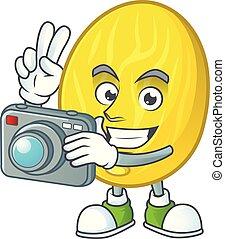 φωτογράφος , χαρακτήρας , φρούτο , πεπόνι , γελοιογραφία ,...