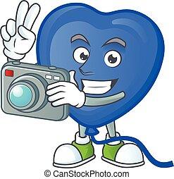 φωτογράφος , balloon, φωτογραφηκή μηχανή , κομψός , μπλε ,...