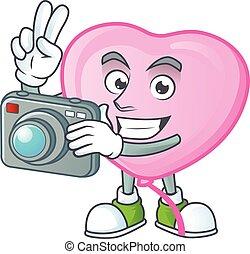 φωτογράφος , balloon, φωτογραφηκή μηχανή , ροζ , κομψός ,...