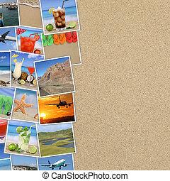 φωτογραφία , από , ακμή άδεια , παραλία , πίνω , οδοιπορικός , γιορτή , και , copyspace