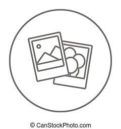 φωτογραφία , γραμμή , icon.