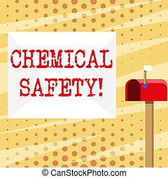 φωτογραφία , ελαχιστοποιητικές , οποιαδήποτε , χημικός , σημαία , γράψιμο , περιβάλλον , σχετικός με την σύλληψη ή αντίληψη , αγαθός αριστερός , safety., ριψοκινδυνεύω , επιχείρηση , εκδήλωση , εξάσκηση , φάκελοs , χέρι , showcasing, χημική ουσία , κουτί για γράμματα , έκθεση , πάνω , signalling., μικρό