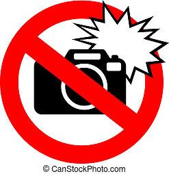 φωτογραφία , λάμψη , όχι , σήμα