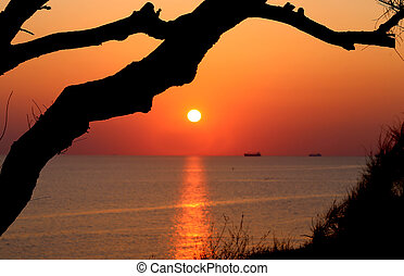 φωτογραφία , όμορφος , θαλασσογραφία , ηλιοβασίλεμα , τοπίο