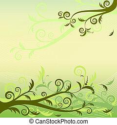 φόντο , άνθινος , πράσινο