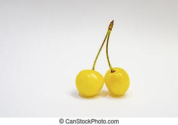 φόντο , άσπρο , κίτρινο , κεράσι