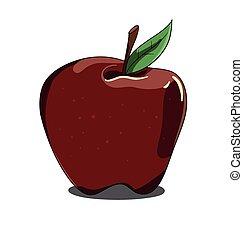 φόντο , άσπρο , μήλο , απομονωμένος , κόκκινο