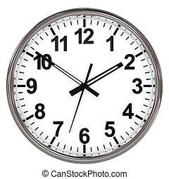 φόντο. , άσπρο , ρολόι