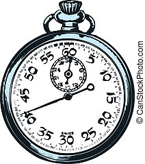 φόντο. , άσπρο , ρολόι τσέπης
