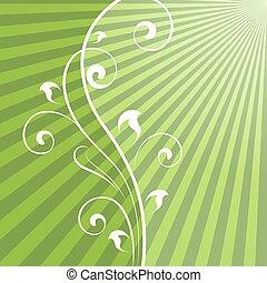 φόντο. , αφαιρώ , ακτίνα , πράσινο