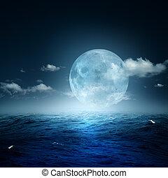 φόντο , θάλασσα , φυσικός , νύκτα