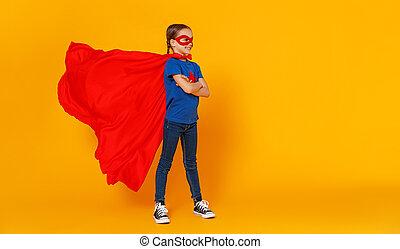 φόντο , κοστούμι , παιδί , κίτρινο , superhero , γενική ιδέα
