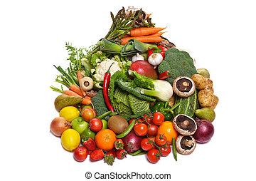 φόντο. , λαχανικά , φρούτο , απομονωμένος , άσπρο