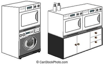 φόντο , μπουγάδα , αβέστωμα άβουλος άνθρωπος , απομονωμένος , άσπρο , μηχανή