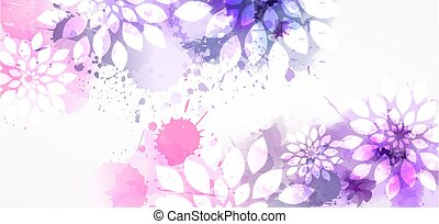 φόντο , νερομπογιά , αφαιρώ , λουλούδια