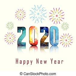 φόντο. , πυροτέχνημα , 2020, έτος , καινούργιος , ευτυχισμένος