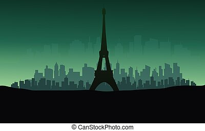 φόντο , πύργος , eiffel , περίγραμμα , πράσινο