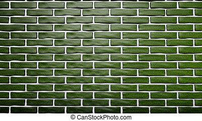 φόντο , τοίχοs , τούβλο , πράσινο