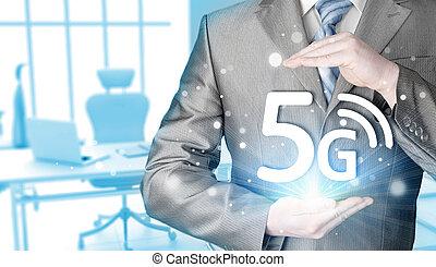 φόντο , 5g, ανάμιξη αμπάρι , επιχειρηματίας , τεχνολογία