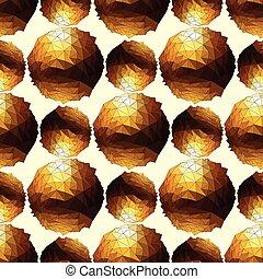 φόντο. , ball., seamless, χρυσός , disco