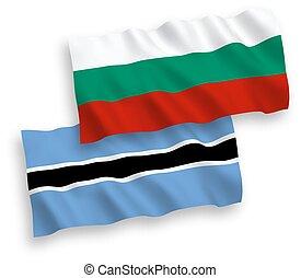 φόντο , botswana , βουλγαρία , άσπρο , σημαίες