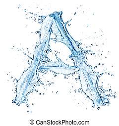 """φόντο , """"d"""", απομονωμένος , νερό , αναβλύζω , γράμμα , άσπρο"""