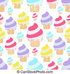 φόντο. , pattern., seamless, παγωτό
