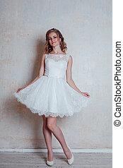 φόρεμα , κρασί , διατυπώνω , νύμφη , hairstyle , όμορφος , γάμοs