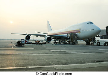 φόρτωση , αεροπλάνο , φορτίο