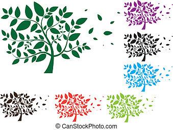 φύλλα , δάσοs , εργοστάσιο , δέντρο