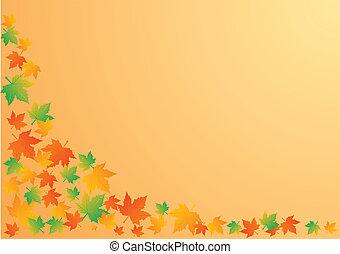 φύλλα , εικόνα , φθινόπωρο , μικροβιοφορέας , φόντο , πορτοκάλι