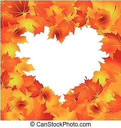 φύλλα , φόντο , φθινόπωρο