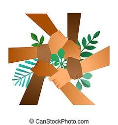 φύλλο , βοήθεια , φύση , ανάμιξη , διάφορος , πράσινο , ζεύγος ζώων