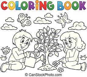 φύτεμα , μπογιά , δέντρο , βιβλίο , μικρόκοσμος