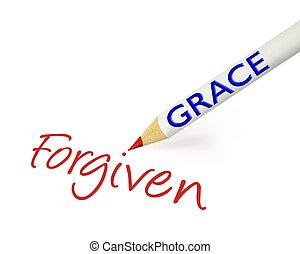 χάρη , βρίσκομαι , forgiven