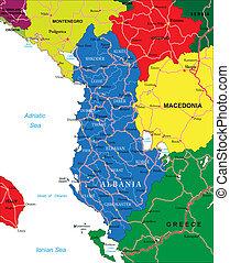 χάρτηs , αλβανία