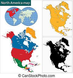 χάρτηs , αμερική , βόρεια