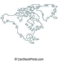 χάρτηs , αμερική , βόρεινος