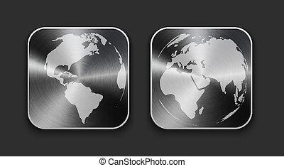 χάρτηs , απεικόνιση , σφαίρα , μέταλλο , κόσμοs , ακουμπώ , app