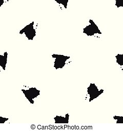 χάρτηs , από , ισπανία , πρότυπο , seamless, μαύρο