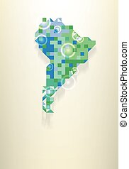 χάρτηs , από , νότια αμερική