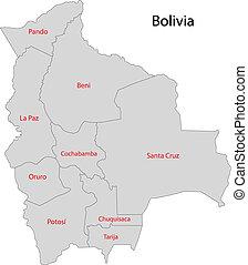 χάρτηs , βολιβία , γκρί