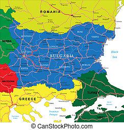 χάρτηs , βουλγαρία