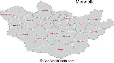 χάρτηs , γκρί , μογγολία