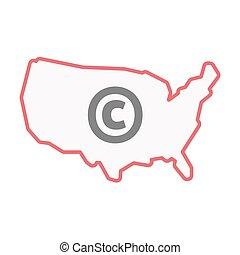 χάρτηs , γραμμή , η π α , τέχνη , απομονωμένος , σήμα , πνευματικά δικαιώματα