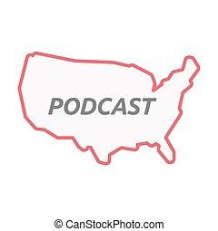 χάρτηs , γραμμή , η π α , τέχνη , podcast, απομονωμένος , εδάφιο