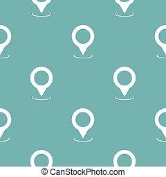 χάρτηs , δείκτης , πρότυπο , seamless, μπλε